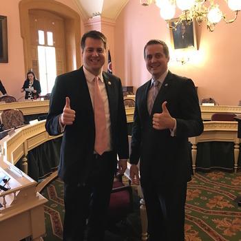 Rep. Derek Merrin & OPA Past President Jeff Bartone