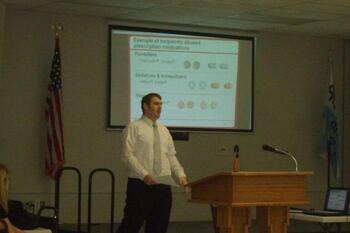 Anthony giving Generation Rx Presentation