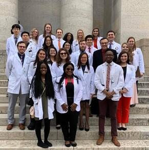 Ohio Rep Scott Lipps and student pharmacsts at the OPA 2020 Student Pharmacist Legislative Day