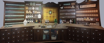 Hand-painted Pharmacy Donor Mural
